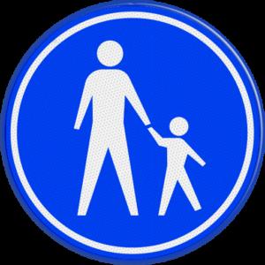 verkeersbord volwassene en kind